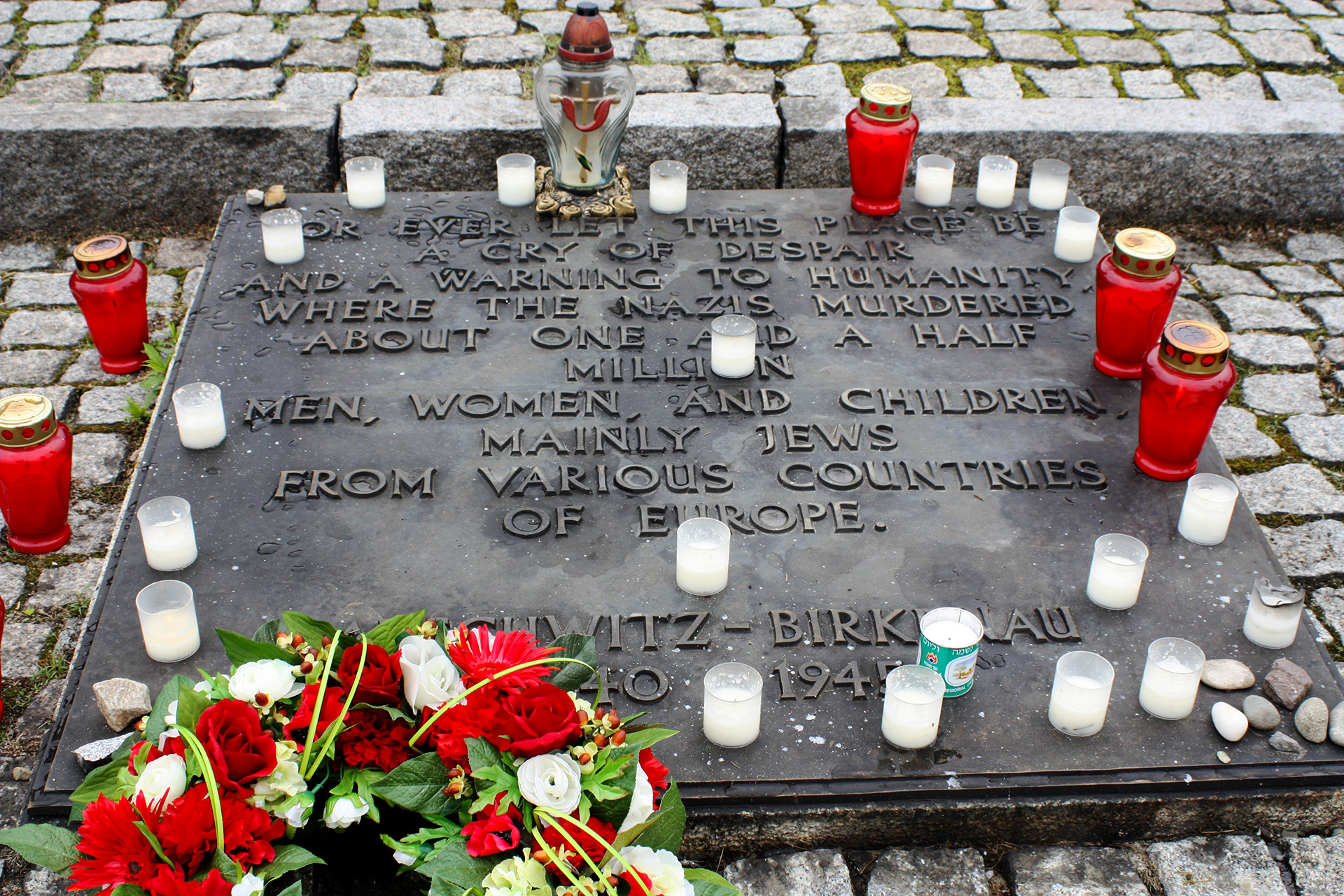 Memorial at Birkenau (Auschwitz II).