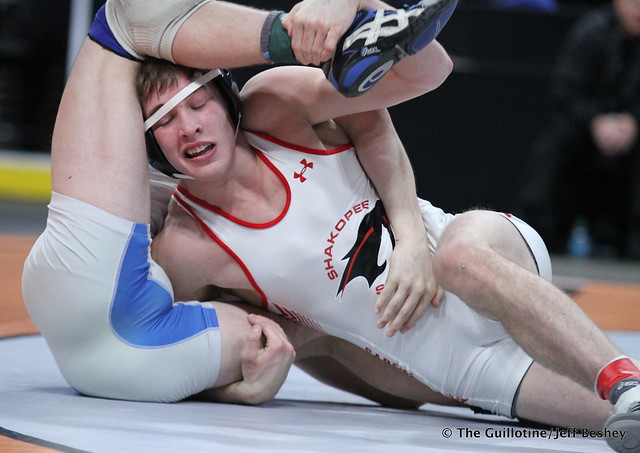 152AAA - 1st Place Match - Alex Crowe (Shakopee) 45-1 won by decision over Cade King (Owatonna) 40-4 (Dec 6-4)