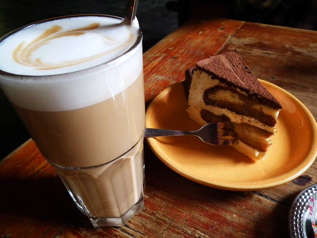 Cake and coffee in Tallinn