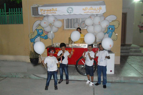 Freshi Organized a Party for Children by Freshi Ice Sticks Jeddah Saudi Arabia
