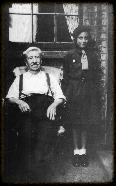 Grandad and me in brownie uniform