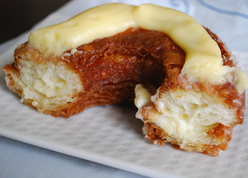 Croissant Donut half