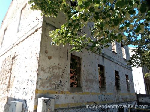 Bullet-ridden house, Mostar