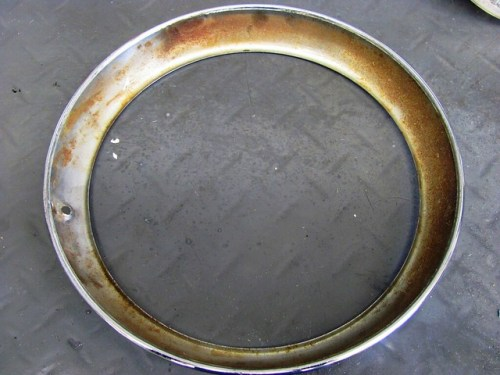 Rust on Inside of Chrome Trim Ring
