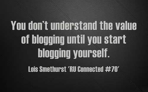 You Don't Understand Blogging Unless You Blog
