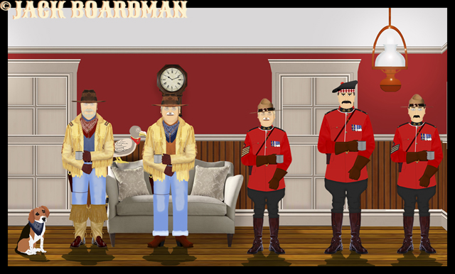 Meeting the Mounties in their cabin