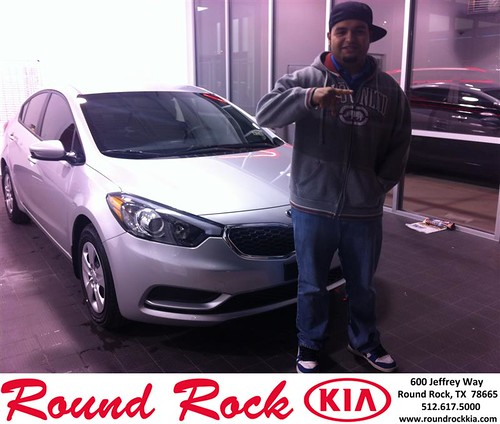 Thank you to Karin Merida on your new 2014 #Kia #Forte from Amir Mahboubi and everyone at Round Rock Kia! #RollingInStyle by RoundRockKia