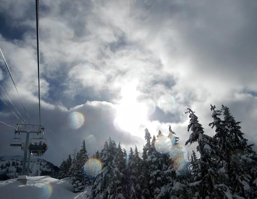 skiing up at Blackcomb