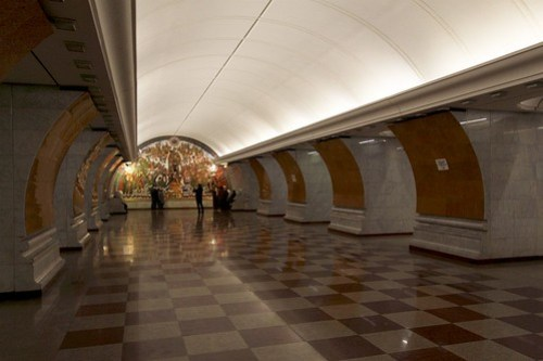 Northern platform for outbound trains