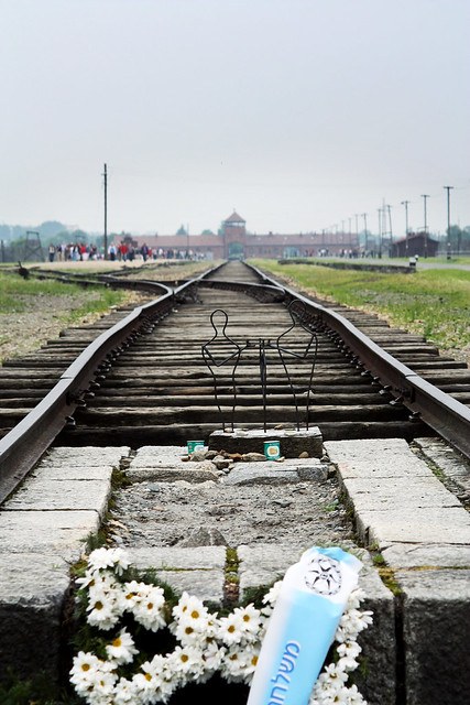 Memorial at the end of the tracks, Birkenau (Auschwitz II).
