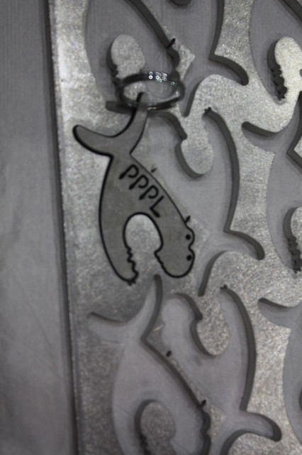 The water jet cut out key chains for everyone