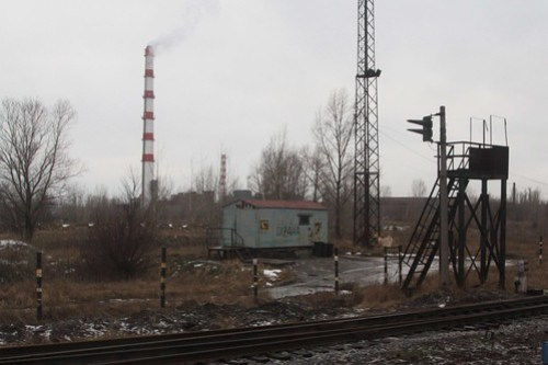 Heavy industry on the outskirts of the Russian city of Липецк (Lipetsk)