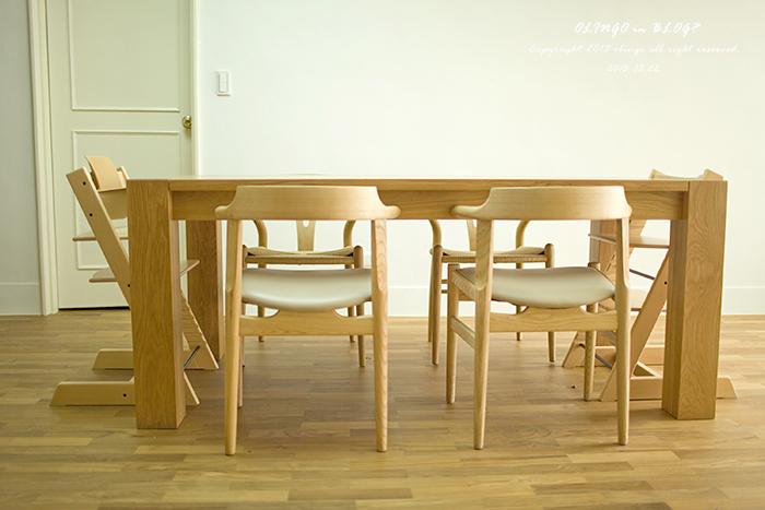 chairs for kitchen table sets ikea muji簡約風 客廳 餐廳 開箱囉 olingo in blog 痞客邦 雖然這180公分的實木餐桌和四張椅都是複刻版 但質感還不錯 因為我也沒見過真品啦 哈哈