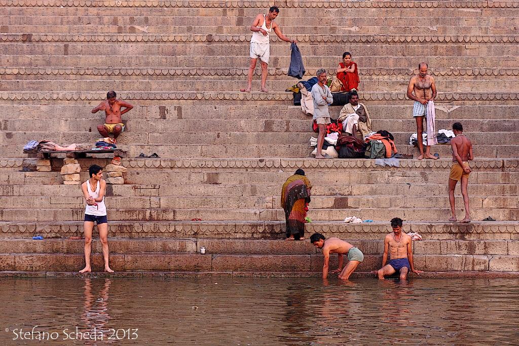 Morning bath in the Ganges - Varanasi, India