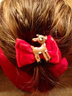Rudolph Hair bow!