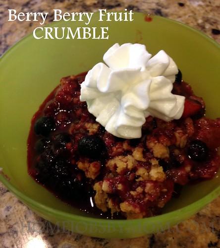 berry berry fruit crumble recipe