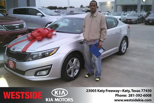 Thank you to Kyle Nickerson  on your new 2014 #Kia #Optima from Gil Guzman and everyone at Westside Kia! #LoveMyNewCar by Westside KIA