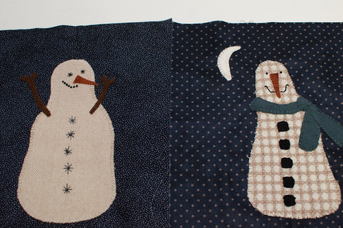 Snowmen from Primitive Gatherings BOM