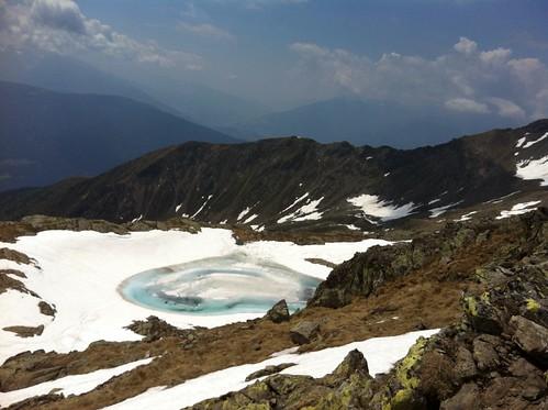 Weiterer Bergsee, Abstieg Richtung Kompfossee