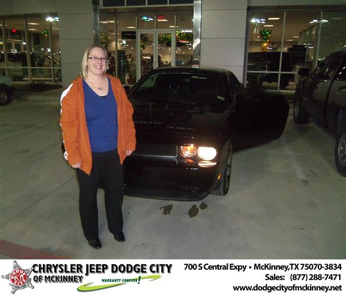 Happy Anniversary to Julie Payne on your 2013 #Dodge #Challenger from Perry Callan and everyone at Dodge City of McKinney! #Anniversary by Dodge City McKinney Texas