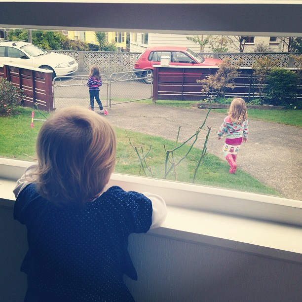 "Looking after my 14 month niece and she says ""let me out with those big cousins, let me out..."" #needtostartwalkingfirstbeforeyoucanscootgirly #socute #cousinsatplay"
