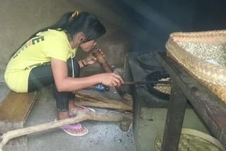 increasing heat to the roast