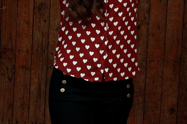 Hearted shirt