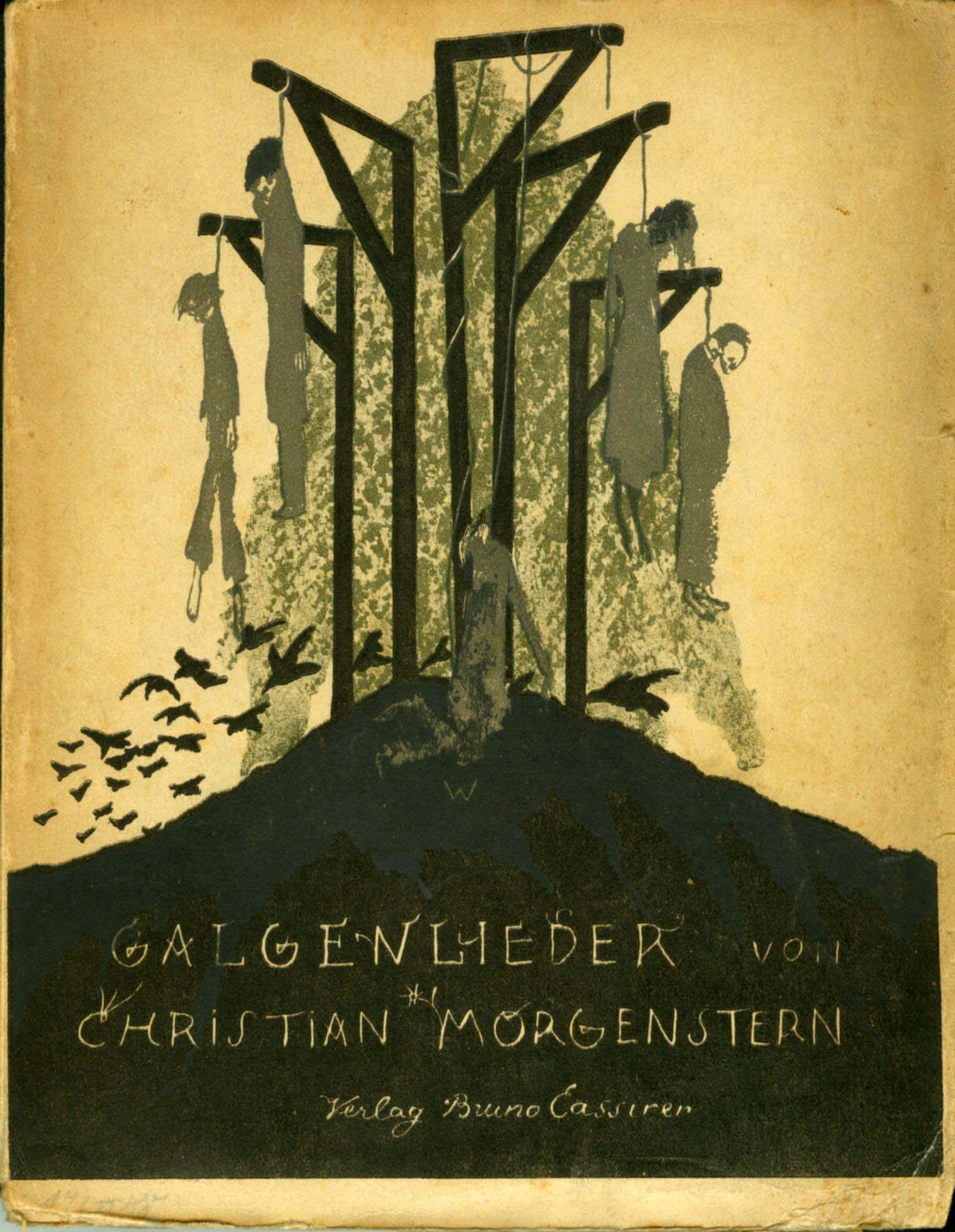 Umschlag Christian Morgenstern, Galgenlieder, 1905, 3. Auflage 1908, Karl Walser via Digitales Christian-Morgenstern-Archiv