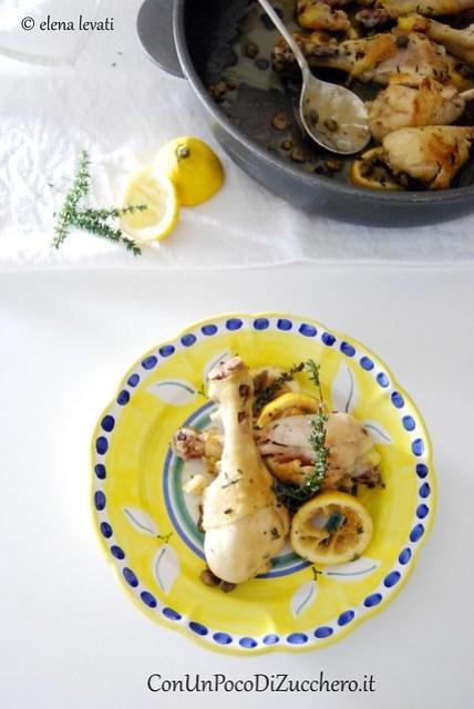 Fusi di pollo al limone e capperi