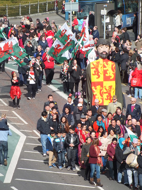 St David's Day Parade in Cardiff, Wales