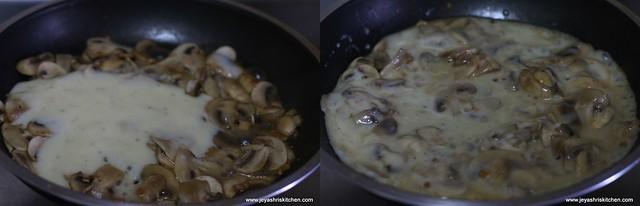add white sauce