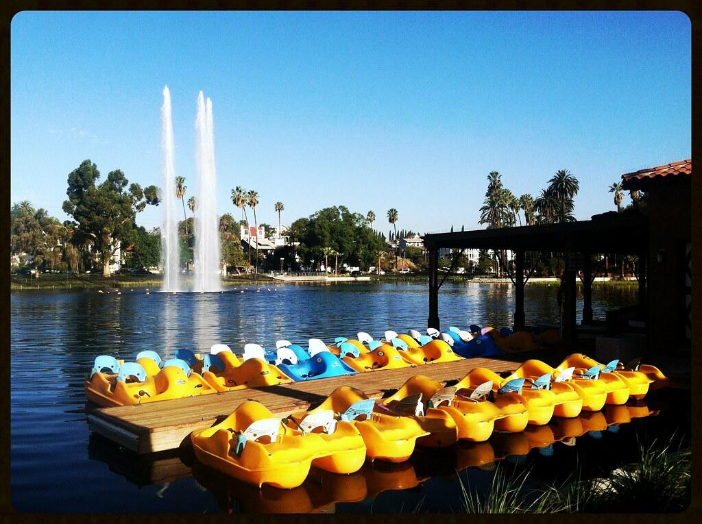 Paddle Boats at Echo Park Lake