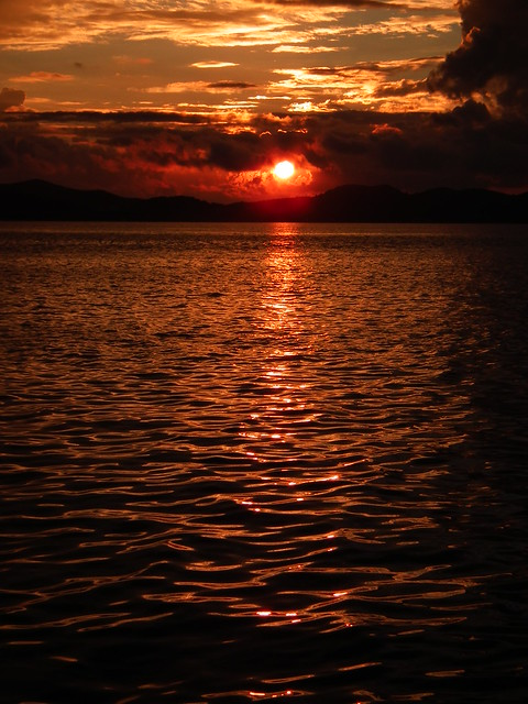 Sunset in Zadar, Croatia