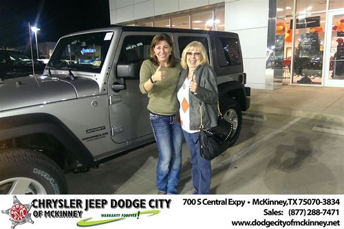 Thank you to Amber Johnson on your new 2014 #Jeep #Wrangler Unlimited from Joe Ferguson  and everyone at Dodge City of McKinney! #NewCarSmell by Dodge City McKinney Texas