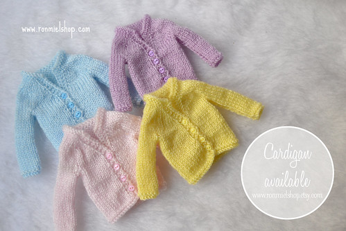 New Blythe Cardigans!! =^-^= by * Ronmiel *