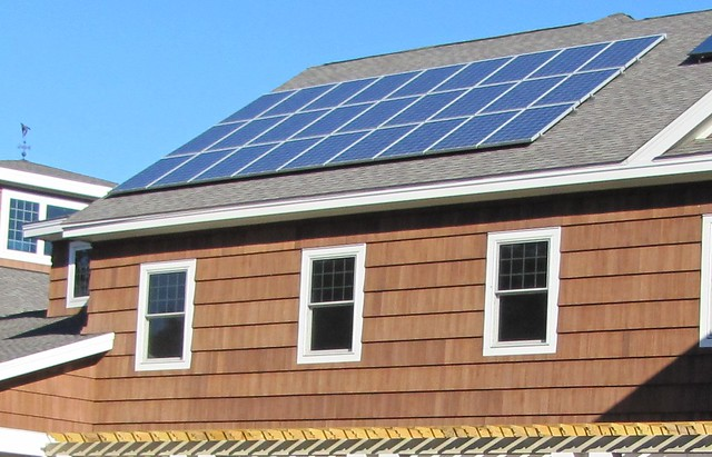 Solar panels at Long Island Visitor Center