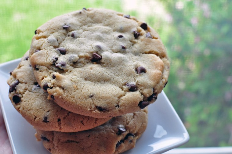 Bakery Style Chocolate Chip Cookies 5