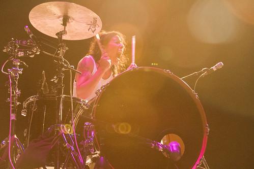 Matt & Kim Performing at Riot Fest 2013 Denver Day 2