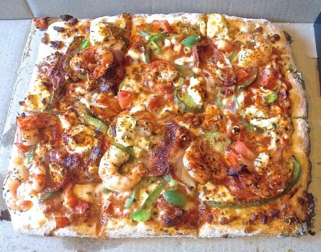 Prawn, Bacon & Feta Pizza