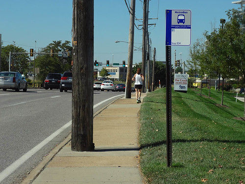 Public Transit and Pedestrians in Suburban Sprawl