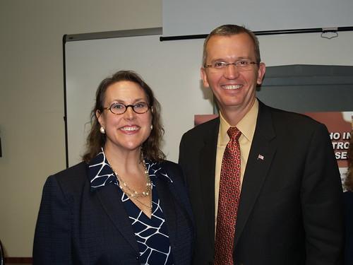 Amy Whitcomb Slemmer and Secretary John Polanowicz