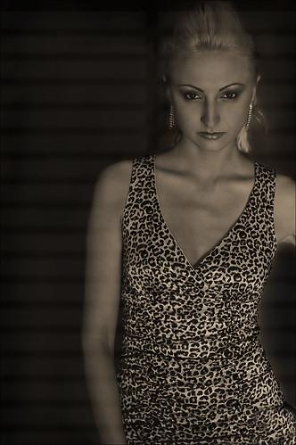 Image of Aliona with gobo lighting effect