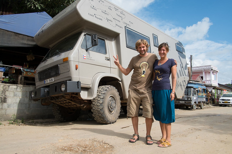 Cruising Nomads from Czech Republic, Huay Xai, border town in Laos