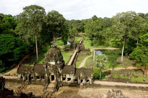 View from Baphuon at Angkor Thom