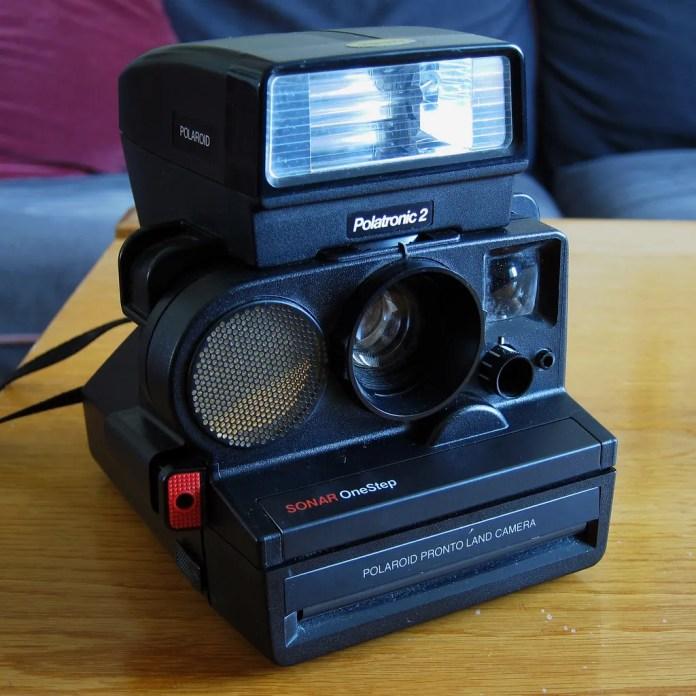 Polaroid Pronto Sonar OneStep with Polatronic 2209 Flash