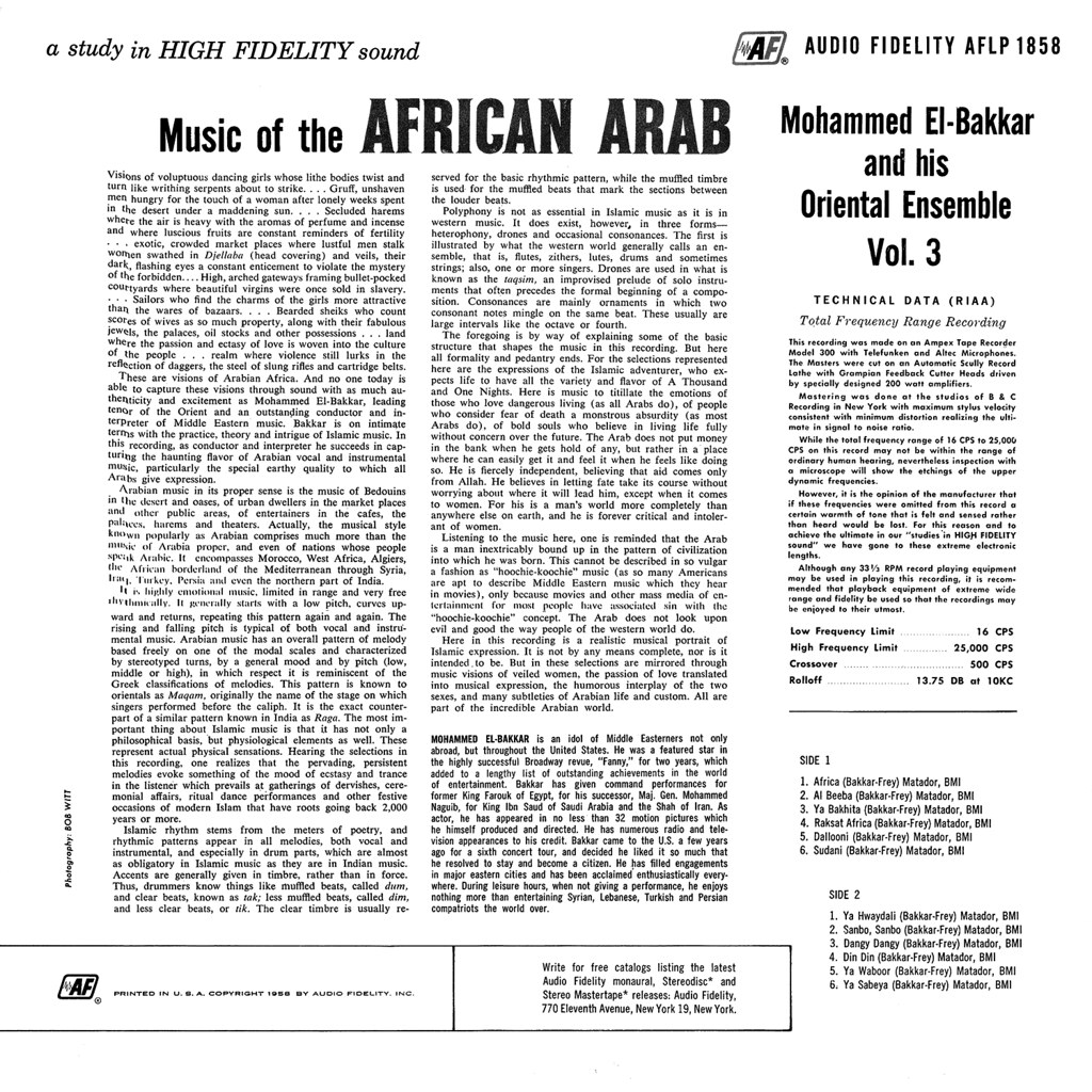 Mohammed El-Bakkar - Music of the African Arab