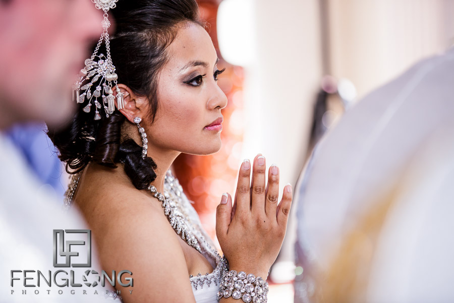 Cambodian bride during wedding ceremony