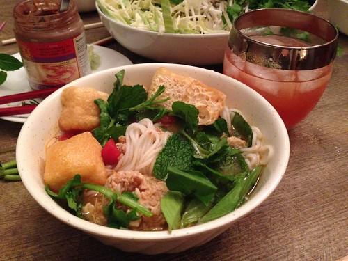 Bun Rieu Cua tomato crab soup