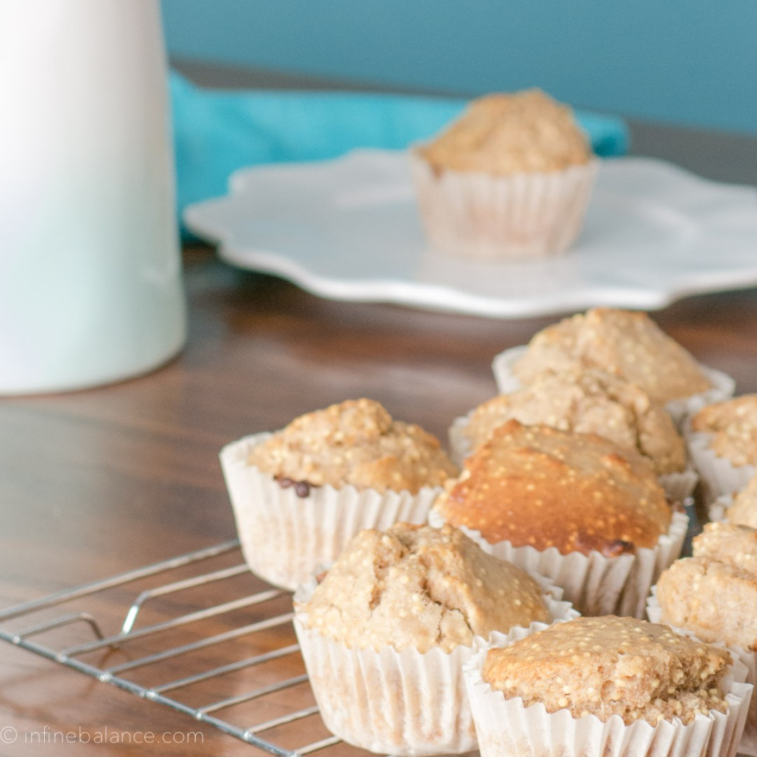 Millet and Oat Muffins #vegan vegan school-safe school recipe oats nut-free muffin lunch box brown rice syrup Breakfast