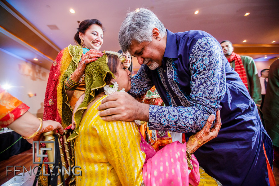 Bride's father during pithi ceremony